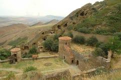 Complesso del monastero di David Gareja, Georgia Fotografie Stock Libere da Diritti