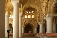 Complesso del palazzo di Thirumalai Nayakkar Mahal Fotografie Stock Libere da Diritti