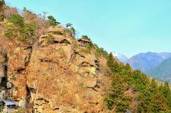 Complesso del santuario del tempio di Yamadera fotografia stock libera da diritti