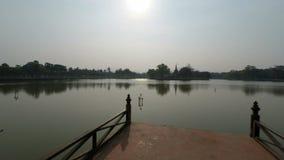 Complesso del tempio del sukhothai in Tailandia video d archivio