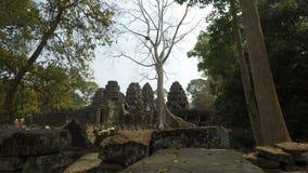 Complesso del tempio di Angkor Wat in cambodi archivi video