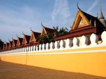 Complesso 1 del tempio di Phnom Penh fotografie stock libere da diritti
