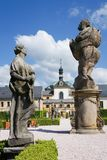 Complesso dell'ospedale barrocco dal 1692 con la m. B Statue di Braun, Kuks, Boemia orientale, repubblica Ceca Fotografia Stock Libera da Diritti