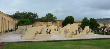 Complesso dell'osservatorio di Jantar Mantar a Jaipur Immagini Stock
