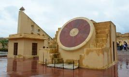 Complesso dell'osservatorio di Jantar Mantar a Jaipur Fotografia Stock