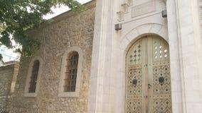 Complesso della moschea di bey di Gazi Husrev a Sarajevo stock footage
