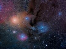 Complesso della nuvola di Ophiuchi del Rho immagine stock