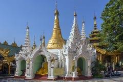 Complesso della pagoda di Shwedagon - Rangoon - Myanmar Fotografie Stock Libere da Diritti