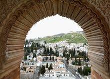 Complesso di Alhambra a Granada Fotografia Stock