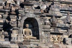 Complesso di Borobudur del tempio di Buddist in Yogjakarta, Java fotografia stock libera da diritti