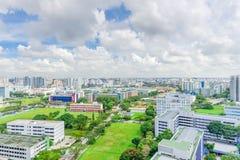 Complesso di costruzione del condominio di Singapore alla vicinanza di Kallang Immagine Stock Libera da Diritti
