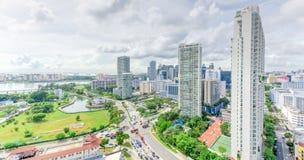 Complesso di costruzione del condominio di Singapore alla vicinanza di Kallang Fotografia Stock