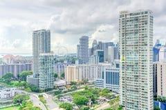 Complesso di costruzione del condominio di Singapore alla vicinanza di Kallang Fotografia Stock Libera da Diritti