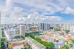 Complesso di costruzione del condominio di Singapore alla vicinanza di Kallang Fotografie Stock