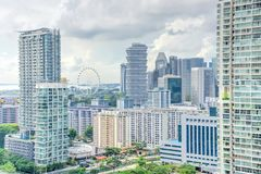 Complesso di costruzione del condominio di Singapore alla vicinanza di Kallang Immagini Stock Libere da Diritti