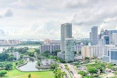 Complesso di costruzione del condominio di Singapore alla vicinanza di Kallang Immagini Stock