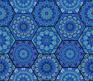 Complesso 3 di Honey Comb Hex Pattern Flower Immagini Stock Libere da Diritti