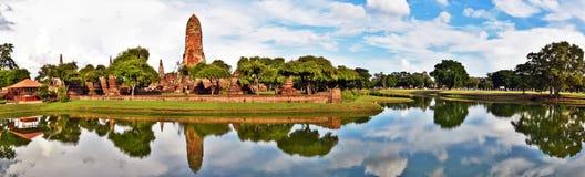 Complesso di Wat Phra Ram e panorama del parco pubblico di Rama Immagini Stock