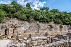 Complesso il santuario di Asclepio Fotografie Stock