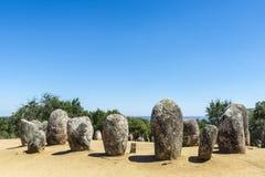 Complesso megalitico di Almendres, Portogallo Fotografia Stock Libera da Diritti