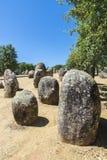 Complesso megalitico di Almendres, Portogallo Fotografie Stock Libere da Diritti