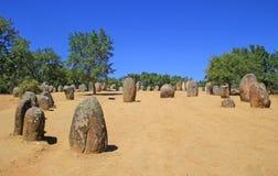 Complesso megalitico di Almendres, Portogallo Immagine Stock