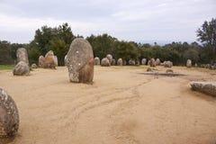 Complesso megalitico di Almendres, Portogallo Immagine Stock Libera da Diritti
