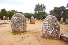 Complesso megalitico di Almendres, Portogallo Immagini Stock Libere da Diritti