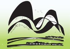 Completamente desenho da montanha Imagens de Stock Royalty Free