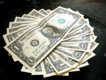 Completamente do dólar americano do dinheiro Imagens de Stock Royalty Free
