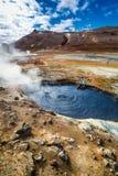 Completamente do terreno de Namafjall do vapor e do enxofre, Islândia Imagem de Stock