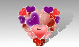 Completamente dos corações Foto de Stock