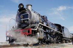 Completamente - vista do trem em Swakopmund, Namíbia do vapor Fotografia de Stock