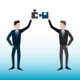 Completamento dell'idea Metafora della soluzione di affari Fotografia Stock Libera da Diritti