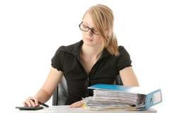 Completando formulários de imposto Imagem de Stock Royalty Free