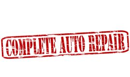 Complete auto repair. Rubber stamp with text complete auto repair inside,  illustration Stock Image