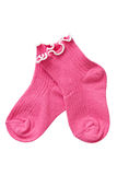Complete of baby socks. Complete of baby-girl socks on white background royalty free stock images