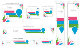 Complete Banners Pack Royalty Free Stock Photos