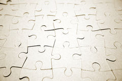 Complete blank jigsaw puzzle Royalty Free Stock Photography