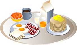 Complete breakfast Royalty Free Stock Image