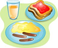 Complete Breakfast royalty free illustration
