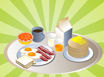 Complete breakfast Royalty Free Stock Photography