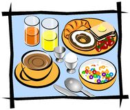 Complete breakfast illustration Stock Image