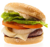 Complete burger Royalty Free Stock Photos