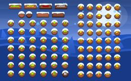 Complete Christmas Game Button Pack. A complete button pack for 2d Christmas or winter themed video games Stock Images