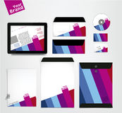 Complete Corporate identity business set. Vector illustration. Modern and colorful Stock Image