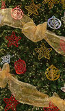 Complete Decoration on Large Christmas Tree Royalty Free Stock Images