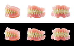 Complete Dentures. Isolated in white Royalty Free Stock Photo