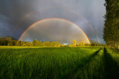 Complete Double Rainbow royalty free stock photo