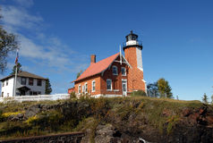 Complete Eagle Harbor Lighthouse Royalty Free Stock Photos